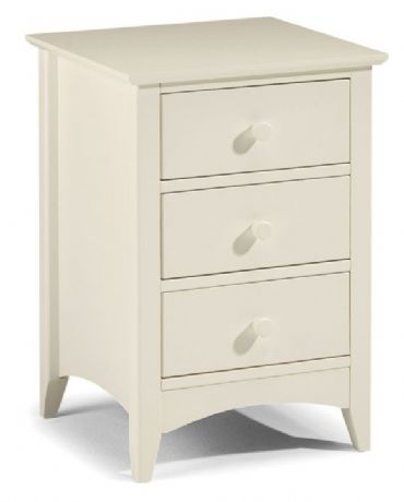 Cameo White 3 Drawer Bedside Chest Table Sale Now On Your Price Furniture